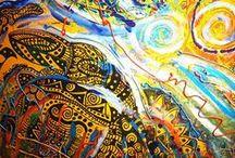 Kingdom of Space Moths / My Paintings