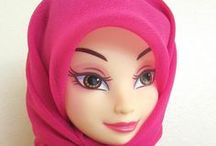 Muslim Dolls - Muslim Barbie / Muslim Dolls in Hijab and wearing long dresses perfect gifts to buy from etsy. Multicultural dolls from around the world.