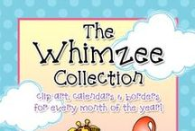 Whimzee Collection / Celebrate all year long with DJ's 'Whimzee' collection! Each download set has clip art, calendars, and borders for each month of the year so you can craft, create and organize with a smile!  / by DJ Inkers
