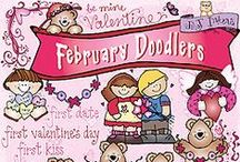 February! / Love is in the air... especially in February! We have hearts and Valentines products coming out our ears!! And I'm sure there's more to come.... and it's all SO CUTE! / by DJ Inkers