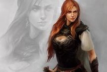 Character Inspiration - Female / Inspiration board of female-looking characters.