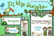 Classroom Themes / Fun classroom theme ideas!  Printables, borders, name tags, work charts & more! / by DJ Inkers