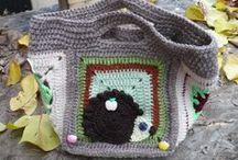 čtverce a kolečka / háčkování, pletení