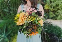 Bridal Party / Bridal bouquets, Bridesmaid bouquets, Hair flowers, and Flower Crowns