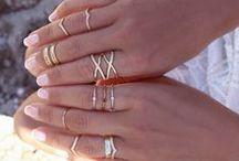 Herrin der Ringe / Midi Rings - Ringe an der ganzen Hand verteilt; zarte Ringe