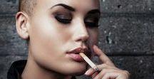 Woman Shrouded In Smoke