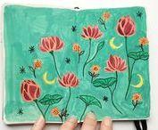 Sketchbook Angelique Guillemet / Ici des extraits de mes recherches dans mon carnet de croquis / Here extracts from my sketchbook