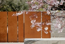 Corten / Stunning garden landscapes incorporate color, layers and texture such as Cor-ten.