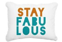 Decorating With Pillows / Pillows are a great way to add color and style to your home!