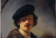 Rembrandt van Rijn - Dutch Painter / Rembrandt Harmenszoon van Rijn was born in 1606 in Leiden, moved to Amsterdam in 1631 and died in 1669. He married Saskia van Uylenburgh but only their fourth child Titus survived beyond infancy and Saskia died soon after his birth. He then became romantically involved with Hendrickje Stoffels. Because of financial problems, Hendrickje and Titus set up a business as art dealers with Rembrandt as an employee. Rembrandt outlived both Hendrickje who died in 1663, and Titus who died in 1668.