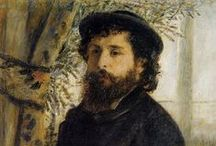 Pierre-Auguste Renoir - Impressionist / Pierre-Auguste Renoir was born in Limoges in 1841 and trained in Paris. After travel abroad he lived and worked in Montnartre. In 1890, he married Aline Victorine Charigot, who had already served as a model . They had three sons who later were highly successful as film makers and actors. Around 1892, her developed rheumatoid arthritis and in 1907 they moved to the warmer Mediterranean climate where he painted during the last twenty years of his life, He died in 1919.