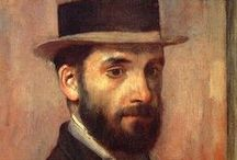 Edgar Degas - Impressionist / Edgar Degas was born Hilaire-Germain-Edgar De Gas in 1834. He was one of the founders of Impressionism but preferred to be called a realist. His mother was Creole and he spent extended time in New Orleans with her family early on. He took a leading role in organising Impressionist Exhibitions but had little in common with the other painters, particularly because he was strongly anti-semitic. He never married and spent his last years wandering the streets of Paris. He died in 1917.