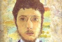 """Pierre Bonnard - Les Nabis / Pierre Bonnard (1867-1947) briefly practicing as a barrister but then became a founder member of Les Nabis, a group of Post-Impressionist avant-garde artists who set the pace for fine arts in France in the 1890s (Nabi - Hebrew for Prophet). He left Paris in 1910 for the south of France with his wife Marthe de Meligny who posed for many paintings. He has been described as """"the most thoroughly idiosyncratic of all the great twentieth- century painters"""""""