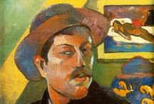 Paul Gauguin - Post Impressionist / Eugène Henri Paul Gauguin was born in Paris in 1848. He was 18 months old when his father died travelling to Peru. On return to France, he worked as a stockbroker. He married a Danish woman, Mette-Sophie Gad in 1873 and they had 5 children and lived in Copenhagen but the marriage failed. He traveled to Martinique then Tahiti where he died in 1903 during a legal dispute with the authorities. He was not well appreciated in his lifetime but was later acclaimed for his use of colour and style.