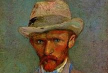 Vincent van Gogh - Post Impressionist / Vincent Willem van Gogh was born in 1853 in Holland. He worked in Holland, Paris then in the south of France. He produced more than 2,100 works in just 10 years. His painting was noted for rough beauty, emotional honesty and bold colour but was barely known while he was alive. He suffered mental illness and in 1888 severed his left ear apparently after a dispute with Gauguin. He died in 1890 aged 37 from a gunshot wound, generally accepted to be self-inflicted although no gun was ever found.