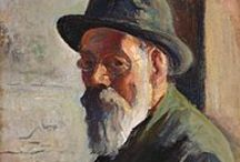 """Maximilien Luce - Post Impressionist / Maximilien Luce was born in 1858 in Paris. After working as an engraver the 4 years in the Army, he concentrated on painting as an Impressionist then Pointillist returning to Inpressionism. He shared his fellow painters' political philosophy of anarchism. He created over 2000 oil paintings and a similar number of watercolors, pastels, drawings and prints. Ambroisine """"Simone"""" Bouin became his model and common-law wife in 1893 and they finally married in 1940. He died in Paris in 1941 aged 83."""