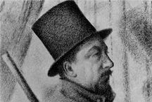 Paul Signac - Post Impressionist / Paul Victor Jules Signac was born in Paris in 1863. He worked with Georges Seurat to develop Pointillism. He was president of the Société des Artistes Indépendants from 1908 until his death and encouraged younger artists - he was the first to buy a painting by Matisse. He wrote several important works on the theory of art. He married Berthe Roblès in 1892 but they later parted.  He settled in with Jeanne Selmersheim-Desgrange in Antibes in 1913 and they had a daughter. He died in 1935 aged 71.