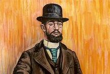Henri de Toulouse-Lautrec - Post Impressionist / Henri Marie Raymond de Toulouse-Lautrec-Monfa or simply Henri de Toulouse-Lautrec (1864-1901) was a French painter whose immersion in the colourful life of Paris in the late 1800s yielded a collection of exciting images of the modern and sometimes decadent life of the times. He was a member of an aristocratic family  A combination of a congenital disorder and vitamin deficiency resulted in failure of his legs to grow. An alcoholic for most of his adult life, he died in a sanatorium aged 36.