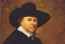 Jan van Goyen - Dutch Painter / Jan Josephszoon van Goyen was born in Leiden in 1596, studied art in Haarlem and established a permanent studio in The Hague at age 35. He was a prolific artist with some 1200 paintings and 1000 drawings attributed to him.  He was primarily a landscape artist. His work did not attract high prices and he fell into debt in spite of working as an auctioneer and speculating in tulips and real estate. After his death in 1656, his wife had to sell all their property to pay off these debts.