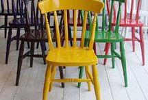 coloured chairs / Kolorowe krzesła- pomysły aranżacji