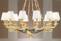 Ottocento Collection / Chandeliers Made in Brass and Gold Plated with Blow Glasses from Murano and Crystal.