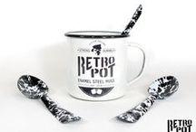 Nuestras tazas RETROPOT / Tazas RETROPOT disponibles en la tienda online: http://www.retropot.es/tienda-online/  #vintage #taza #mug #enamelmug #camping #camplife #retro #retropot #pot #peltre #coffee #tea #vintagemug #cup #deco