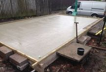 Garage Foundations / Garage Roof Scotland will lay foundations for your new garage.  This is some of our work.