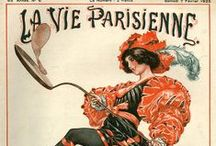 La Vie Parisienne / La Vie Parisienne (Parisian life) was a weekly magazine founded in 1863 and published without interruption until 1970. A new magazine of the same name started in 1984 and is still in existence. Originally it covered novels, sports, theatre, music and the arts. In 1905 it changed hands and evolved into a mildly risqué publication. Stories were complemented by beautiful cartoons and full-page colour illustrations by leading artists including stylized Art Nouveau and Art Deco images