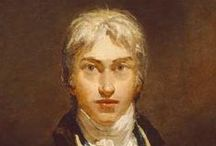 """William Turner - English Painter / Joseph Mallord William Turner (1775-1851) was an English Romanticist landscape painter. Turner was considered a controversial figure in his day but is now regarded as the artist who elevated landscape painting to an eminence rivalling history painting. Although renowned for his oil paintings, Turner is also one of the greatest masters of British watercolour landscape painting. He is commonly known as """"the painter of light"""" and his work is regarded as a Romantic preface to Impressionism"""