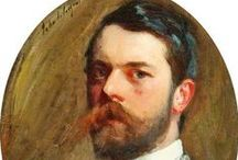 John Singer Sargent / John Singer Sargent (1856-1925) was born in Florence of American parents. He spent all of his life in Europe, trained in Paris then moved to London but maintained an American clientele. He created roughly 900 oil paintings, more than 2,000 watercolors and countless drawings. His portraits were in the classical grand manner while his informal studies and landscape paintings were more in the impressionist style. In later life he devoted his energy to mural painting and working en plein air