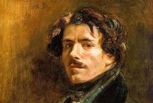 Eugène Delacroix - French Romantic / Ferdinand Victor Eugène Delacroix (1798-1863) was a leader of the French Romantic school. He spent time in North Africa. He took inspiration from Rubens and the Venetian Renaissance. His brushstrokes and use of colour shaped the work of the Impressionists while his passion for the exotic inspired the Symbolist movement. He strongly identified with Lord Byron, illustrated works by authors including Shakespeare and Goethe, and in later life had commissions to decorate public buildings in Paris