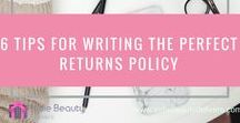 Returns Policies for Online Indie Beauty Brands / You gotta have a returns policy. This board is full of inspiration and advice on how to create a policy that makes your brand stand out and get noticed.