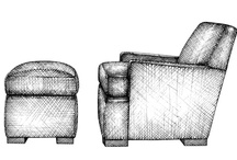 "Chairs from ""Pattern Book of Upholstery"" / An essential reference for interior designers, architects, and students..with 201 hand-drawn models!"