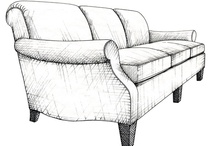 "Sofas from ""Pattern Book of Upholstery"" / An essential reference for interior designers, architects, and students..with 201 hand-drawn models!"