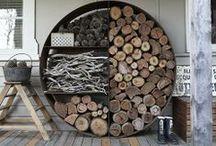 Inspiration // Wood / Du bois recyclé, partout, pour tout...