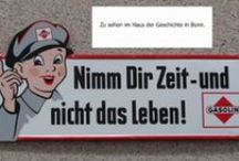 werbung / Werbung aus der Vergangenheit und heute.  Advertising from the past and today. Product ilusstrationen, seen and purchased or bought as seen.