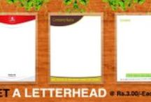 letter heads / Letter heads are very important to any business. letter heads are playing major key role in now a days. Through printasia.in you can get  to your door step by one click