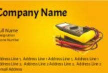 Electrician services visiting crads / Electrician visiting cards online design. get 120 visiting cards at 90/- only.    www.printasia.in