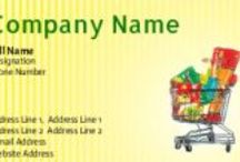 Grocery shop visiting cards onlin / Grocery shop visiting cards design online at printasia, printasia.in is an online web to print company which provides services like business stationary