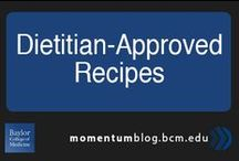 Dietitian-Approved Recipes / Eating healthy doesn't have to bland or boring. Check out these dietitian-approve recipes that packs flavor without packing on the calories. / by Baylor College of Medicine
