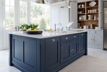 Bump up the colour with blue! / Blue is one of the most versatile colours when it comes to kitchen design ideas and a light shade will create a clean and fresh finish.