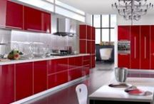 Red Hot Kitchens! / What could be more fitting for the heart of your home than a vivid red kitchen? One that reflects your passion for life, for your family, and for cooking.