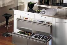 Fridge Drawers / What a great idea, easily accessible fridge drawers built into your kitchen.