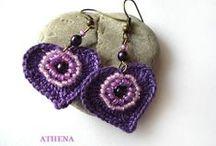 ZAA crocheted-earrings ( jewelry ) / by interszansa