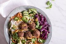Salads / Delicious and healthy recipes from my own blog. Here you'll find mostly plant-based, vegetarian, refined sugar free, gluten free and nutritious salad recipes.