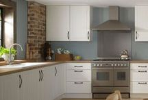 Get The Look > Country Farmhouse Ivory Kitchen - John Lewis / If you like the Country Farmhouse Ivory Kitchen by John Lewis, then this is how you can 'get the look'. From cabinets and worktops to floors and lighting - here's how to get the Country Farmhouse kitchen style.