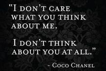 •New Me• / 'Dress like you are going to meet your worst enemy today' Coco Chanel