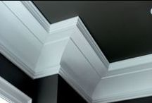 """The Crowning Touch / Moudling is used to fill the gap between a wall and the ceiling. Crown mouldings can measure from 1 1/2"""" to 15"""" or 20"""" depending on the size of the room, the height of the ceiling, and the grandness of the space. A typical home uses crown mouldings of about 4"""" to 5""""."""