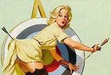 Pin up vintage/historic / Girls art or fantancy