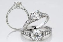 Lace and Romance Diamond Engagement Rings / Elegant, bright, and beautiful vintage inspired engagement rings.